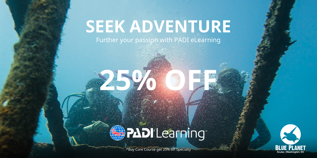 Buy a Core PADI eLearning Course and Get 25% off a Specialty PADI eLearning Course