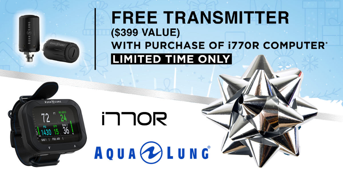 Free transmitter with purchase of Aqua Lung i770R computer