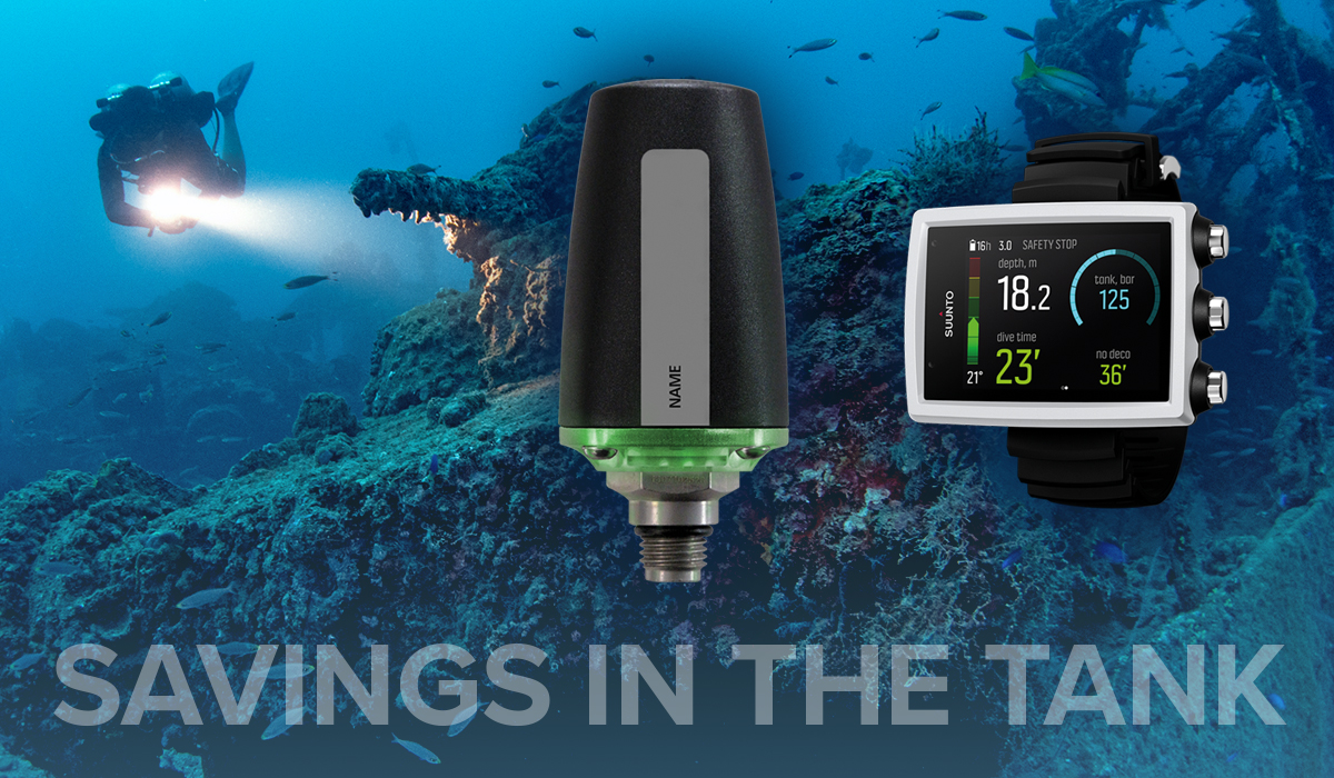 Save on a Suunto EON Core computer when you bundle it with a transmitter pod!